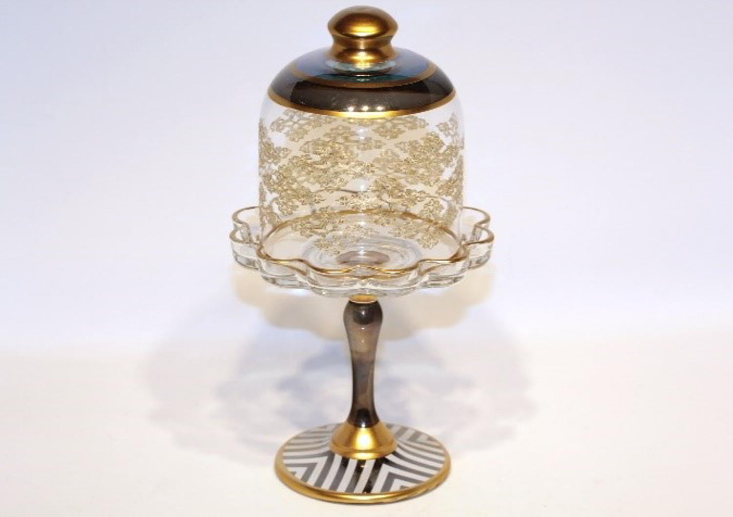 MEVLANA GLASS FOOTED SUGAR BOWL ATLAS resmi