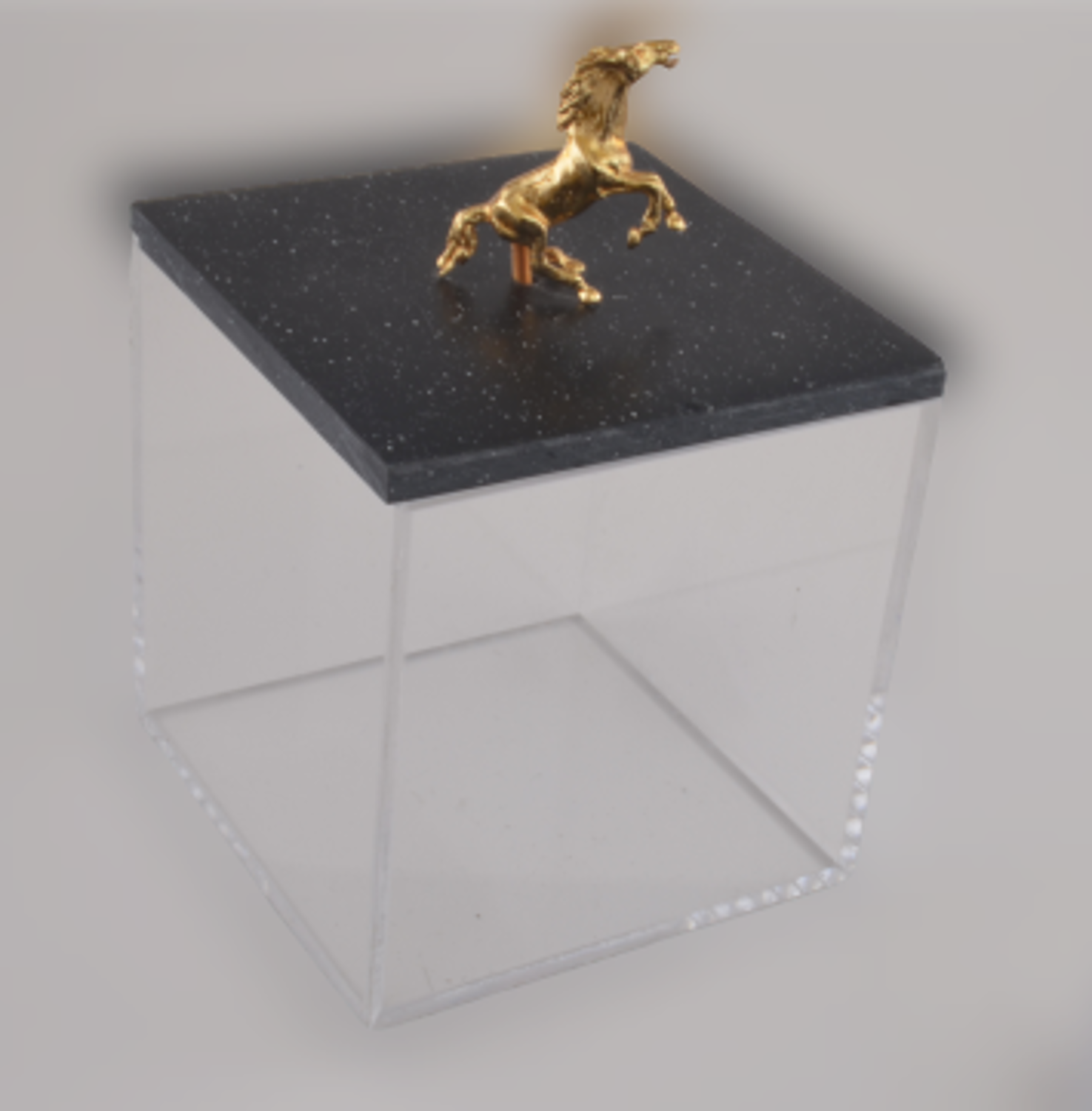 MEVLANA STORAGE CONTAINER FLEXI WITH BLACK MARBLE HORSE resmi