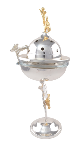 Picture of MEVLANA INCENSORY WITH COVER SILVER