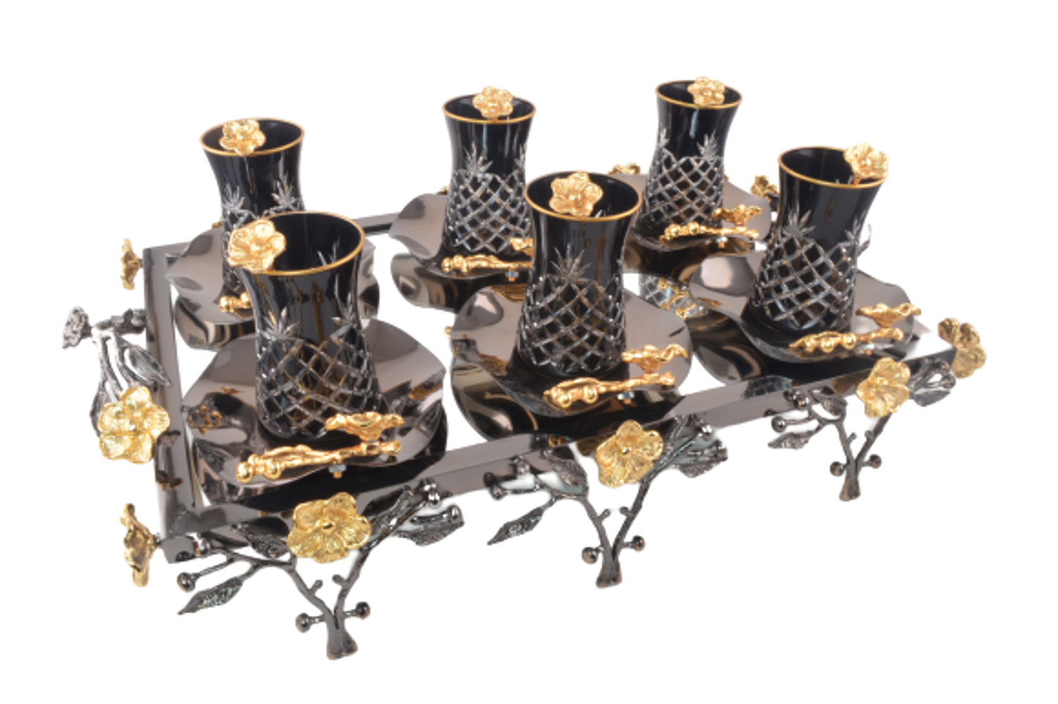 MEVLANA SPEACIAL TEA SET BLACK resmi
