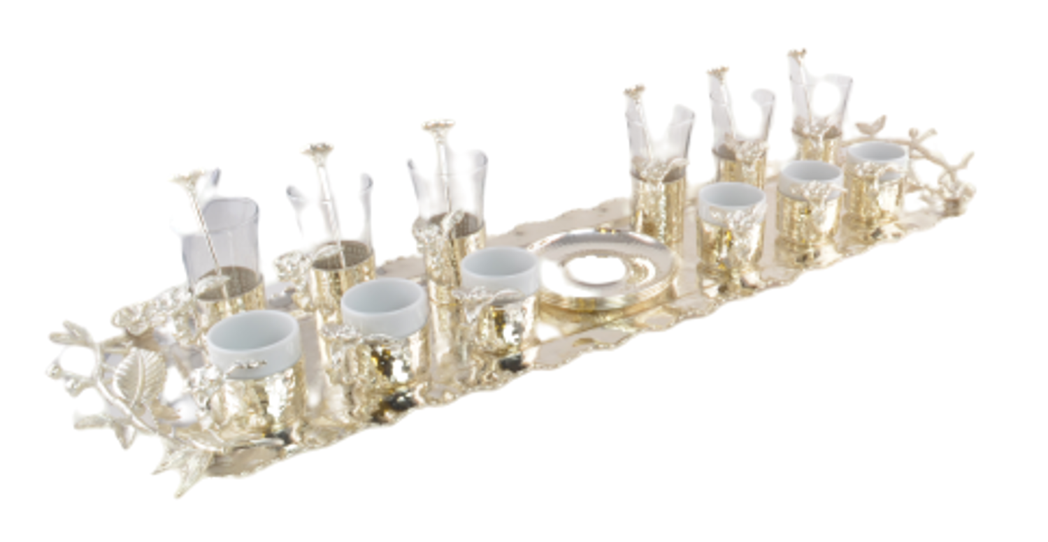 Picture of MEVLANA SPEACIAL TEA&TURKISH COFFEE SET SILVER