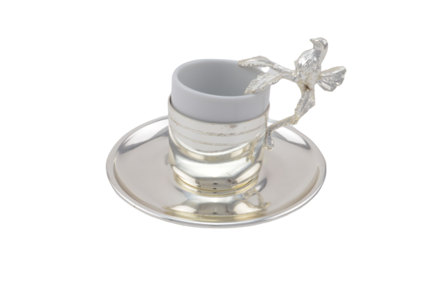 Picture of MEVLANA TURKISH COFFEE CUP SILVER BIRD