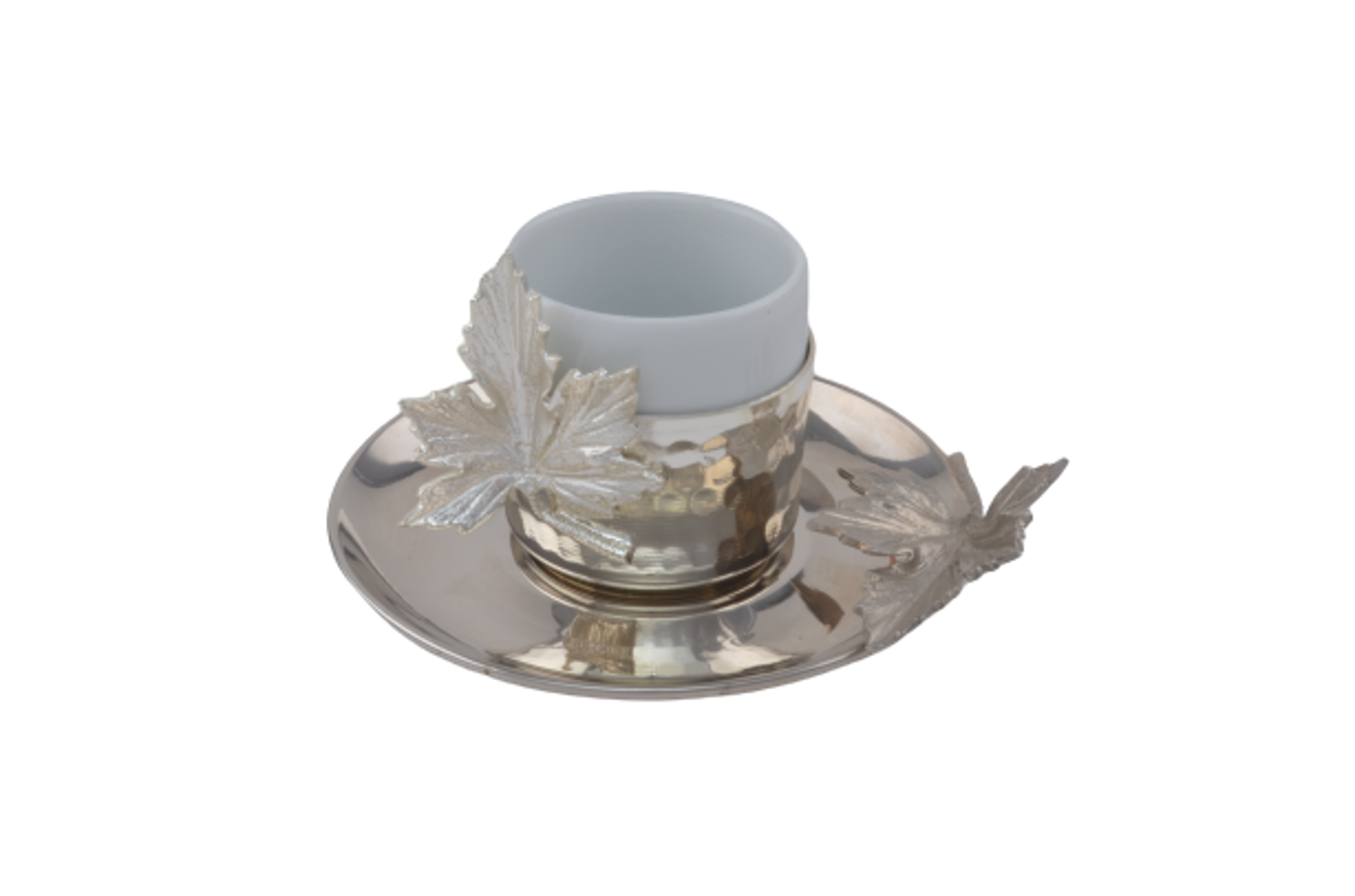 Picture of MEVLANA TURKISH COFFEE CUP SILVER LEAF