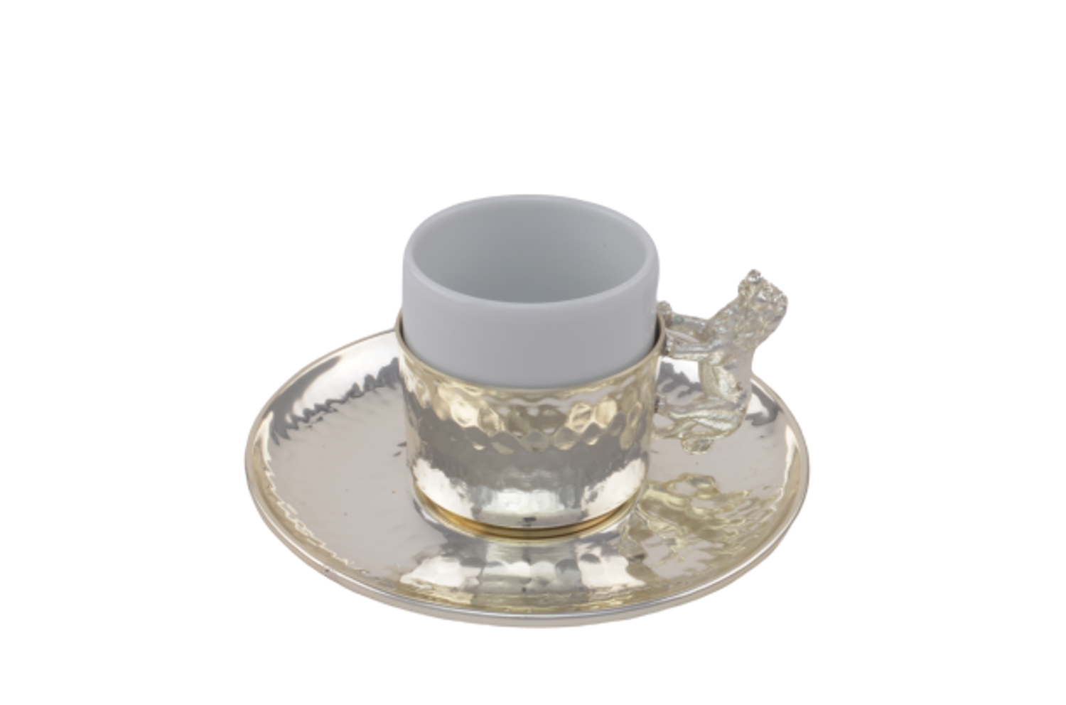 MEVLANA TURKISH COFFEE CUP SILVER LION resmi