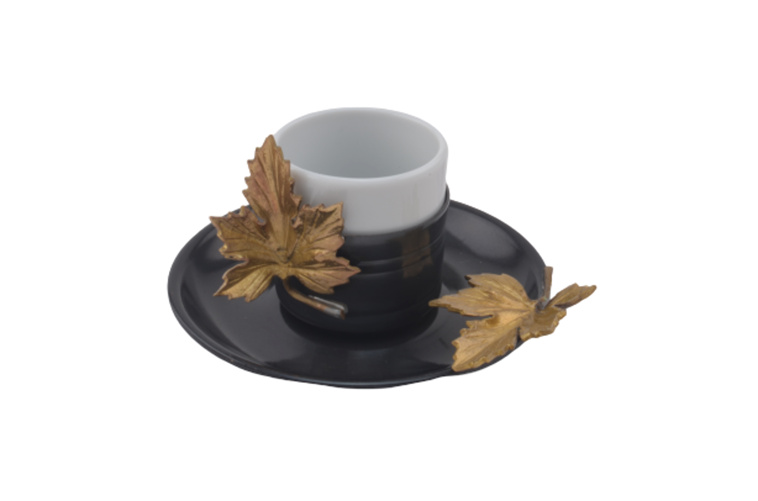 Picture of MEVLANA TURKISH COFFEE CUP BLACK GOLD LEAF