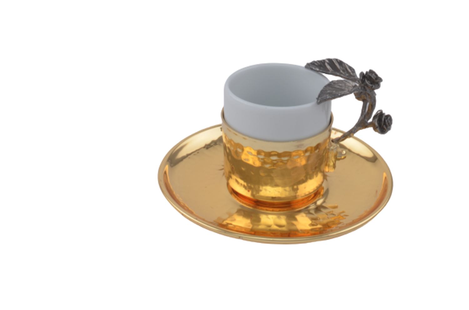 MEVLANA TURKISH COFFEE CUP GOLD BLACK J.G. resmi