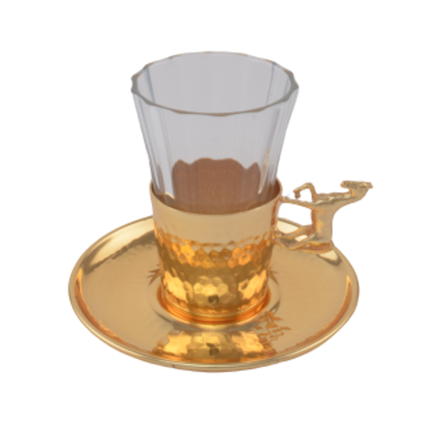 MEVLANA TURKISH TEA CUP GOLD HORSE resmi
