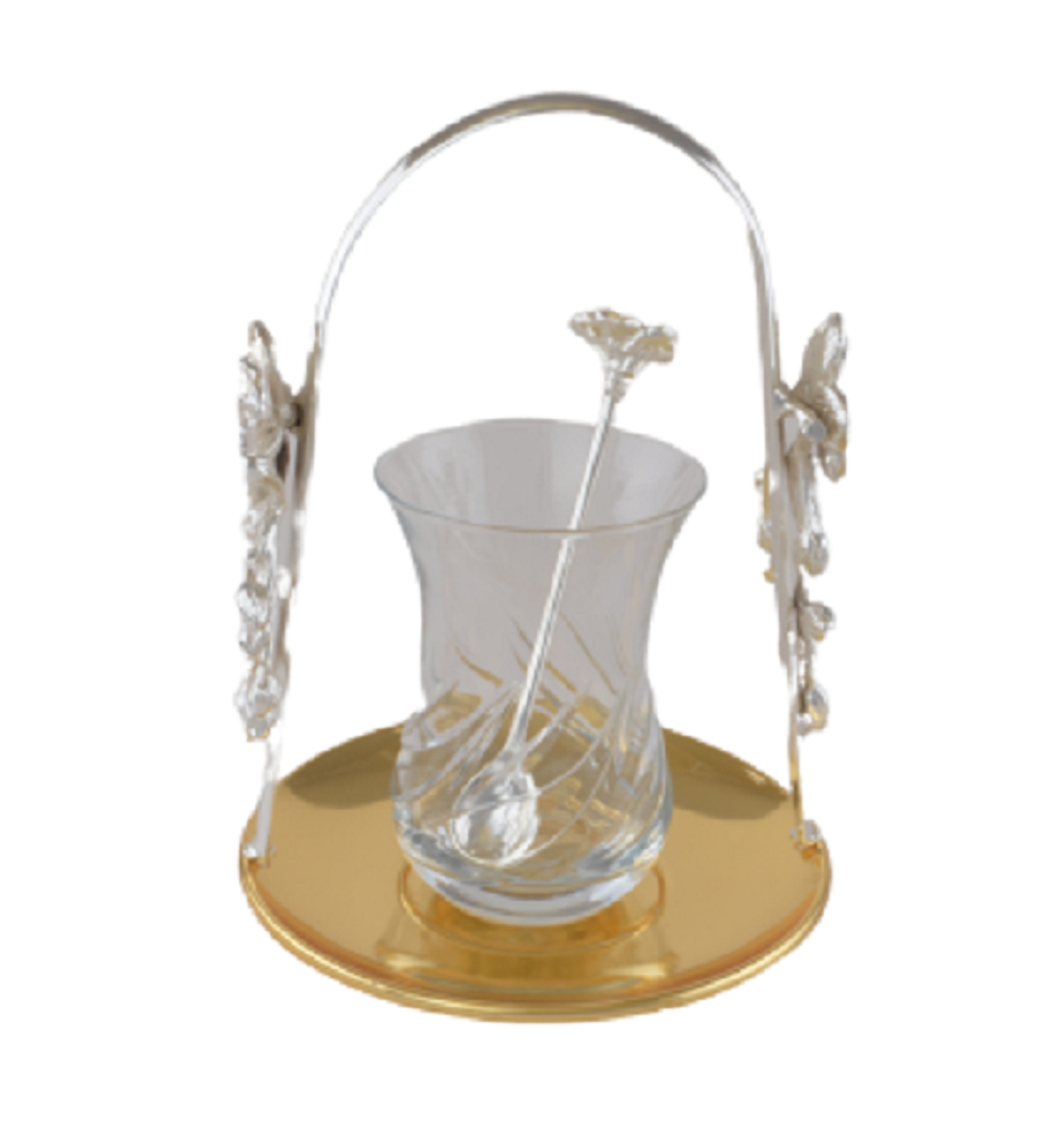 Picture of MEVLANA TEA CUP WITH GOLD-SILVER HANGED TEA PLATE